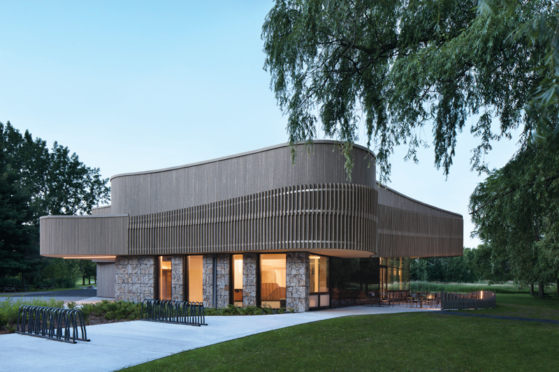 Design with Nature: The Discovery and Visitor Center of Îles-de-Boucherville National Park, Boucherville, Québec