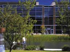 The expansion of Nortel's Ottawa campus incorporates water features and extensive landscaping as major amenities.