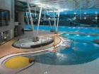 The complex interior landscape of the aquatic centre.