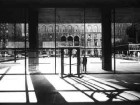View of McKim, Mead and White's Racquet and Tennis Club from the lobby of the Seagram Building, New York, 1958.