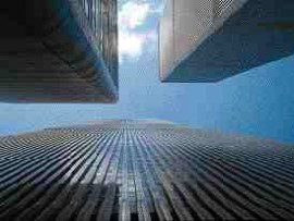 The World Trade Center, New York. Its destruction has provoked a detailed review of skyscraper design.