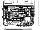 Site plan/ground level plan1.elevatators2.single-storey apartment3.two-storey apartment4.open to courtyard5.perforated aluminum screen1.Spadina Avenue2.Harbord Street3.Glen Morris Street4.lane5.restaurant6.lobby7.apartments8.courtyard9.ramp to parking