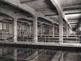 Settling tanks, R.C. Harris Filtration Plant.