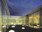 A roof garden provides light and ventilation to the meeting and club rooms surrounding it