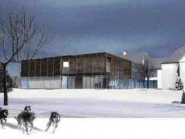 The proposed extension to the Muse du Fjord, La Baie, Quebec.
