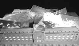 A model of Daniel Libeskind's dramatic proposal for the ROM.