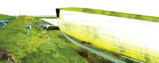 """Seven sustainability indicators were assessed in a development strategy for a site near Edinburgh, Scotland, in a winning submission by University of Manitoba students in RIBA's """"Ideas for Urban Sustainability"""" competition."""