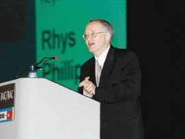 Rhys Phillips, Hon. FRAIC, spoke about advocacy to over 500 delegates during the closing luncheon.
