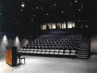 The new 150-seat Studio Theatre joins the extant Main Theatre for live performance space. Renovation and expansion was phased to accommodate the Centre's performance schedule.