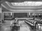 The original auditorium had no raked floor