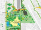 Recent programmatic layout of Downsview Park. Both images are from the Downsview Idea Book 09.29.03, Prepared by Tree City: Bruce Mau Design, Inc. with PMA Landscape Architects, Oleson Worland Architects and SNC Lavalin Engineers