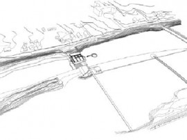 Site plan showing the proposed walkways, parklands and interventions