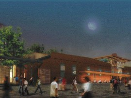 Exterior rendering of KPMB's proposed Young Centre for the Performing Arts along Tankhouse Lane. Source: KPMB
