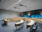 Typical classroom with semi-circular seating provides a more engaging experience for students and faculty