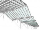 drawing of Diamond and Schmitt's modular roof system of aluminum frames and triple glazing