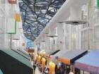 faceted glass-panelled skylight illuminates HUB interior