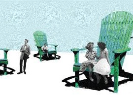 """this summer, NIP paysage's """"Pause"""" will be installed along avenue Mont-Royal and hopes to instigate playfulness and surprise in the urban realm"""