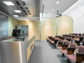 Ceiling Design and Sound-Absorbing Walls Enhance the Function of the Lecture Theatre