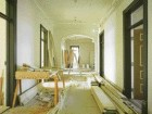 Renovation Work on the Hotel's Vastly Spacious Corridors