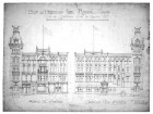 Late 19th-Century Original Proposal Drawings of the Queen Street and Gladstone Avenue Elevations.