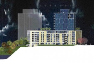 The Proposed Massing Indicates the Setbacks for the Residential Towers and Illustrates the Material Palette and Treatment of the Residences at Ground Level.