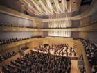 Containing 1,100 Seats on Three Levels, the Concert Hall Is Distinguished by An Undulating Wood Ceiling Integrated With the Acoustic Canopy Over the Stage.