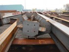 Steel Components in the Fabricator's Yard Await Shipment to Site.
