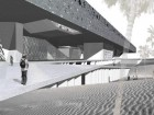 """For Their Submission for the Grand Egyptian Museum Competition in 2002, the nARCHITECTS Entry Entitled """"Dune Terrace"""" Proposed New Ways of Moving Through a Museum, Complete With Easy Overviews, Interactive Connections and Rapid Access to Specific Galleries. Visitors Were Supposed to Arrive Onto An Exterior Terrace Framing Views of the Pyramids."""