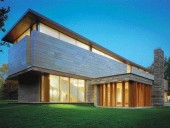 The Protruding Library Offers Privacy and a Densely Elegant Counterpoint to the Thin Yet Robust Gallery Wing.