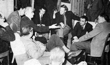 Richard Neutra Ponders the Future of Architecture at the Second Banff Session Held in 1957. Amongst His Audience Members are Ron Thom and Dimitri Dimakopoulos.