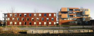 The Breaking Down of the Building Into Two Distinct Masses Reduces Scale and Creates a Dialogue of Forms.