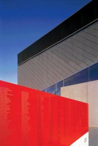 Contrasting Materiality, Colour and Texture are Apparent in the Abstract Forms Comprising the Theatre Exterior.