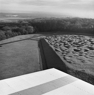 The View From the Top of the Allward Monument Looks Out Toward the Douai Plain in the Distance While the Immediate Landscape Memorializes the Trenches and Explosions Caused by the First World War.