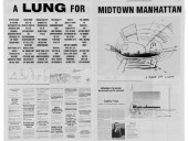 "Cedric Price's ""Design of Cities"" Entry for the 1999 CCA Ideas Competition Summarizes His Pulmonary Position on Manhattan Urbanism."
