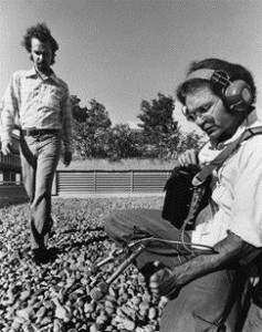 Bruce Davis and Peter Huse Recording Sounds at Simon Fraser University in the Early 1970s.