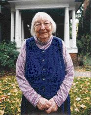 Jane Jacobs in Front of Her Home on Albany Street in the Annex.