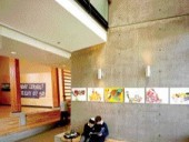 Situated Along the School's Internal Street, the Popular Double-Height Student Lounge Enjoys Abundant Natural Daylight.