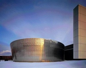 """The Oval-Shaped Space at the Farmington Hills Facility, Otherwise Known as the """"Egg,"""" Is An Exterior Courtyard in Which Final Prototypes are Viewed in Natural Daylight, Concealed in Secrecy From the Outside World."""