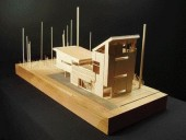 "Representing ""The Suburban Wilderness"" Prototype From the Winner of the DX Award for Architectural Beauty, This Simple Wood Model Articulates An Elegant Formal Statement."