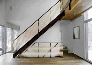 A Simply Detailed Maple and Steel Stair.