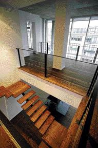 The Floating Stair in One of the Penthouses.