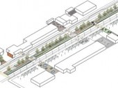 A Detailed Isometric Outlines the Landscaped Spine Linking the Various Pocket Parks for the Cliffside Slips Scheme.