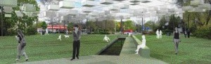 A Canopy of Small Lanterns Enlivens An Underutilized Park Along a Less-Frequented Section of Avenue Road.