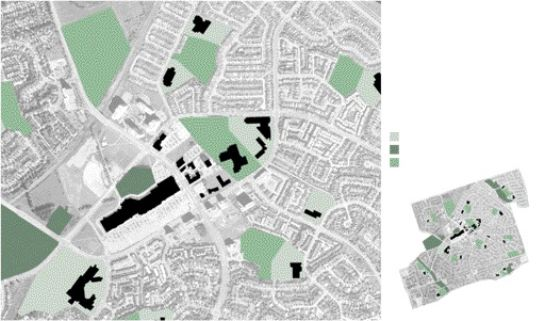 Mythogenic Zone, Diagram 1--Institutions, Playgrounds, Green Spaces and Public Parks