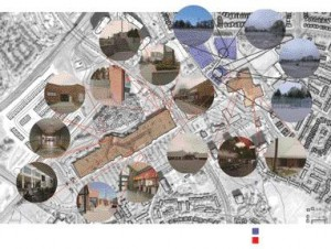 Mythogenic Zone, Diagram 2--Artifacts and Places of SignificanceThe Mythogenic Zones Identified in This Diagram Describe the Relationship Between the Architectural and Landscape Artifacts of the Town Centre and the Adolescents of Malvern.