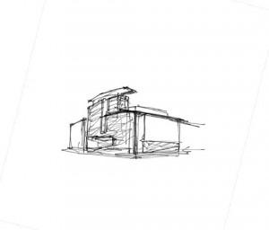 Two Kuwabara Sketches Depict Le Quartier Concordia...