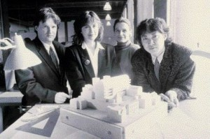 Early Photo of KPMB Team Members Thomas Payne, Shirley Blumberg, Marianne Mckenna and Bruce Kuwabara.