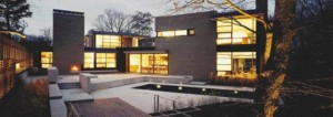 Three Images of the Ravine House (2001) in Toronto's Rosedale Neighbourhood Reveal a Dynamic Courtyard Space...