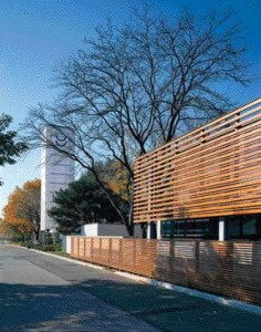 Two Images Contextualize the Japanese Canadian Cultural Centre (2000), An Adaptive Reuse of An Existing Office Building and Printing Plant in Don Mills, a Suburb Northeast of Downtown Toronto.
