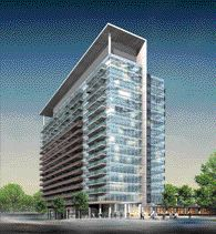 Rendering of the Neo Condominium Building in Toronto Designed for developer Concord Adex.